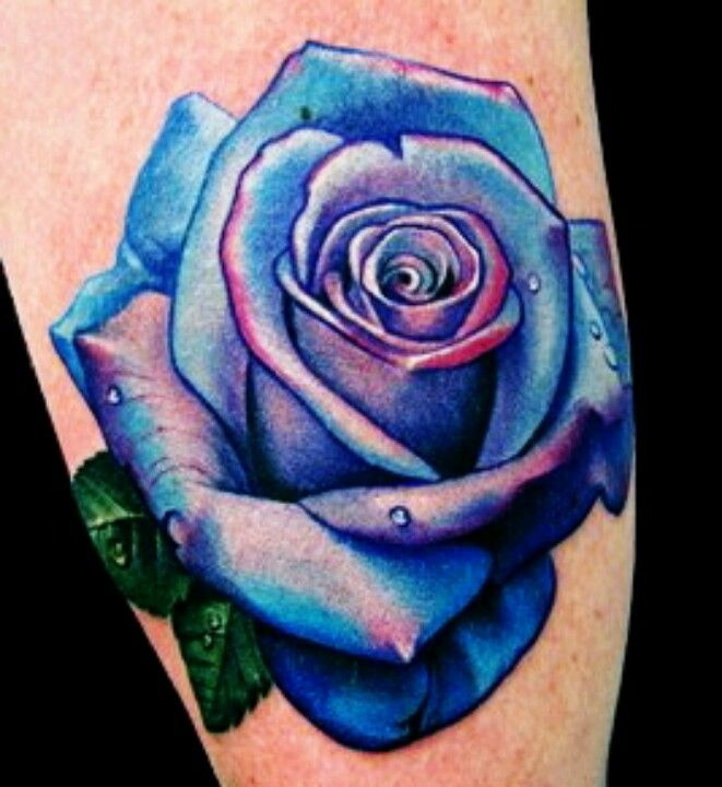 Blue Rose Tattoo Designs And Ideas Blue Rose Tattoos Purple
