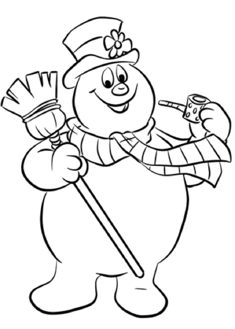 Cute Snowman Coloring Pages Ideas for Toddlers