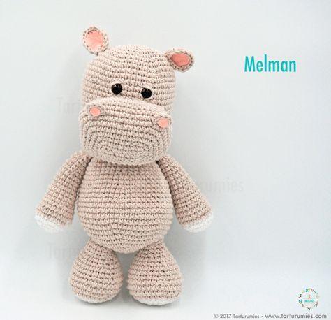 Amigurumi Patrón: El hipopótamo Melman y su amigo Pi - Tarturumies ...
