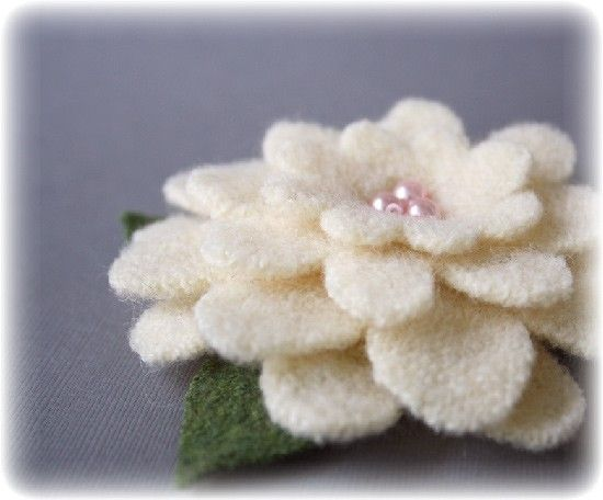 Sweater Pin ....Gardenia by GabriellePollacco on Etsy, $12.50