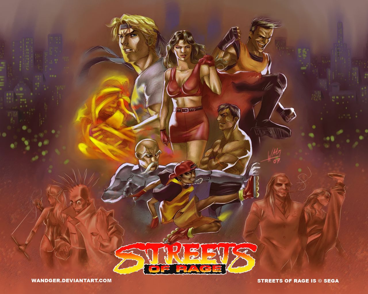Streets Of Rage Streets Of Rage Fan Art Sega Wallpapers Fan