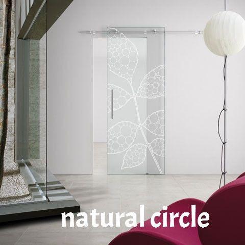 Porte in vetro da arredo scorrevoli esterno muro