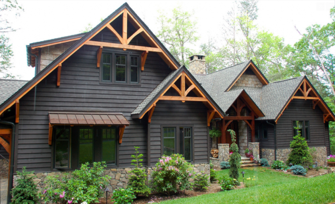 modern rustic homes with black exteriors upcycledtreasures also arkansas rh pinterest