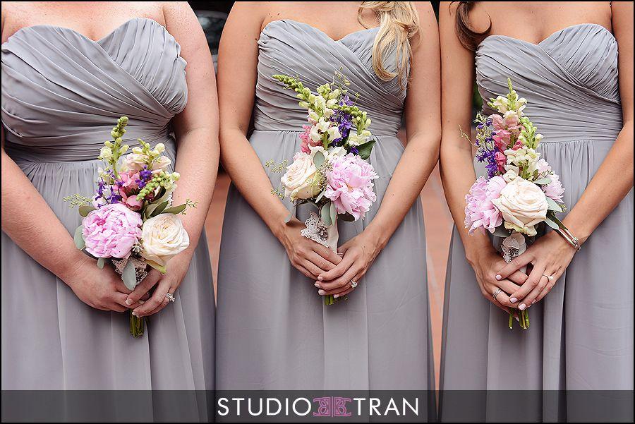 Grey bridesmaid dresses with pink and purple flowers wedding grey bridesmaid dresses with pink and purple flowers mightylinksfo