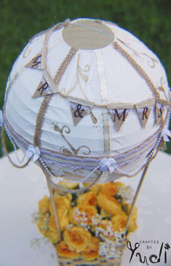 Artikel ähnlich wie Heißluftballon Dekoration - Herr & Frau, Heißluftballon Hochzeit Herzstück, Heißluftballon Hochzeit Lieferungen auf Etsy