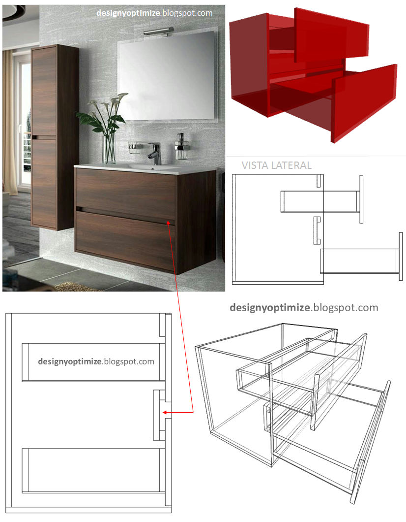 Dise o de muebles madera fabricar mueble con sistema - Manillas para muebles ...