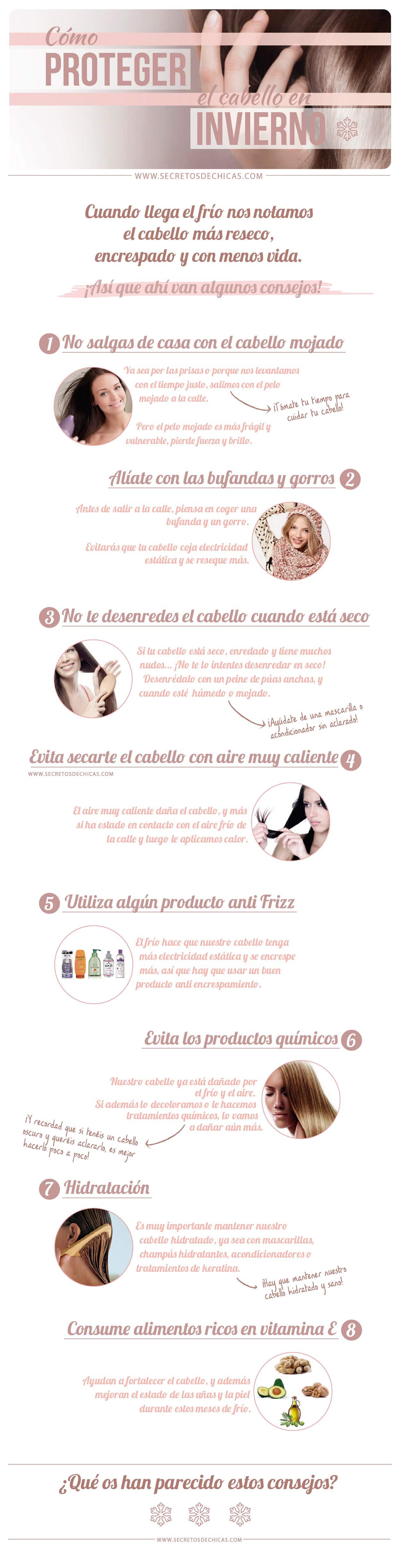 Cómo Proteger El Cabello En Invierno Cabello Secretos De Chicas Rutina De Belleza
