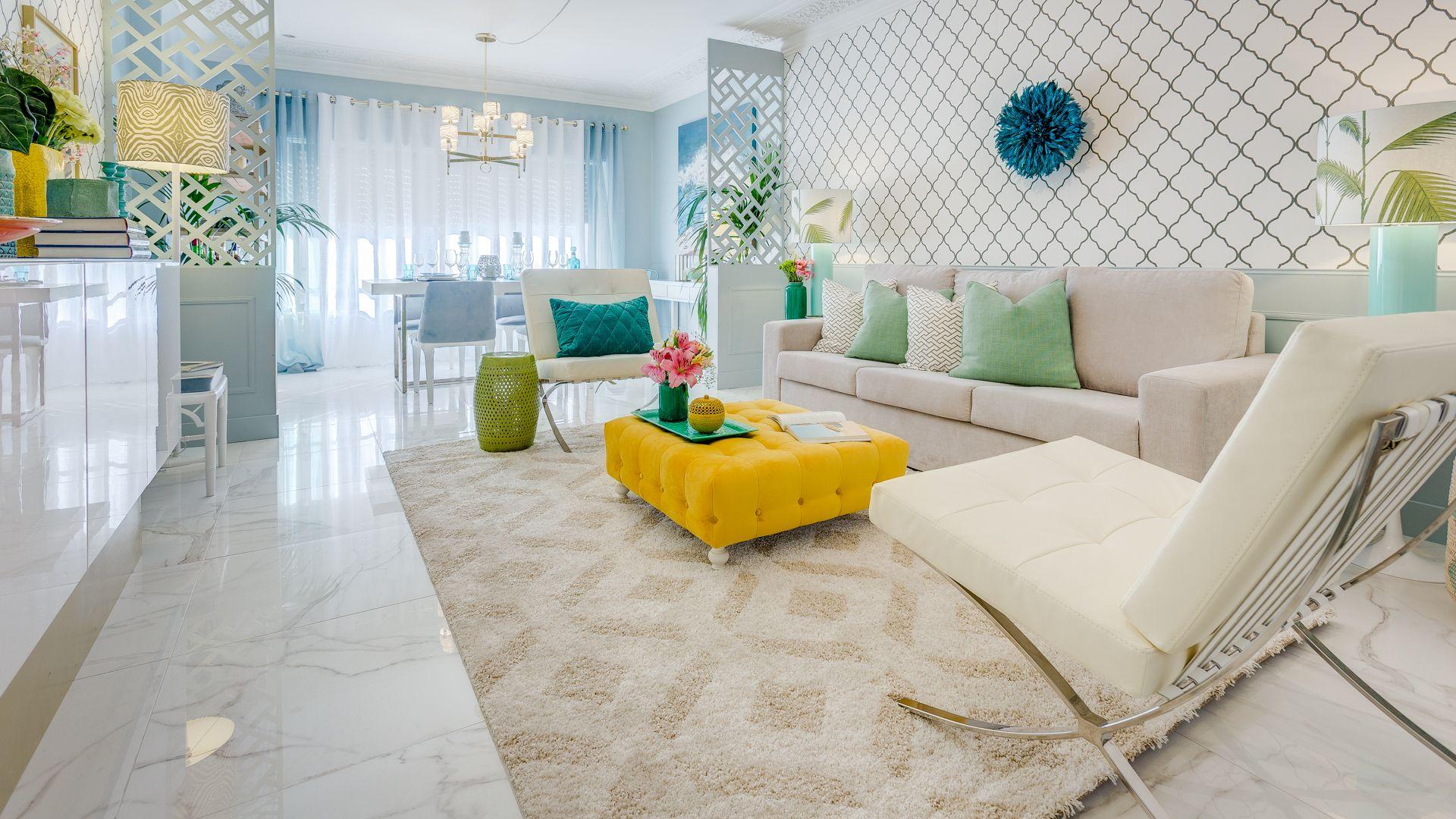 Ana antunes sala de estar living room spring colors for Wallpaper sala de estar