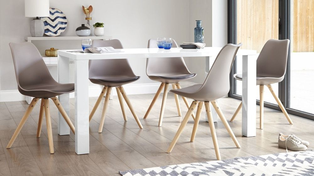 fern white gloss 6 seater dining table in 2019 dining area white rh pinterest com