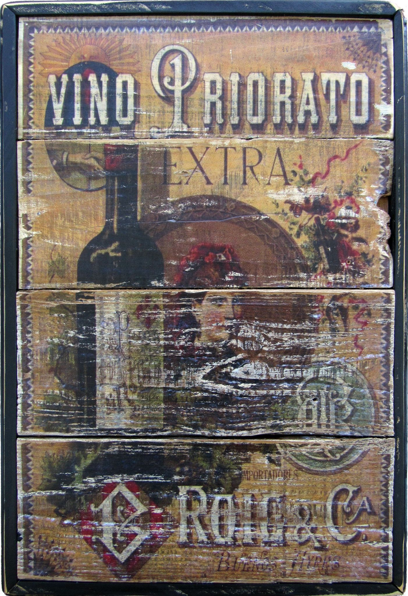 Winery italian vintage priory wall art kitchen pinterest