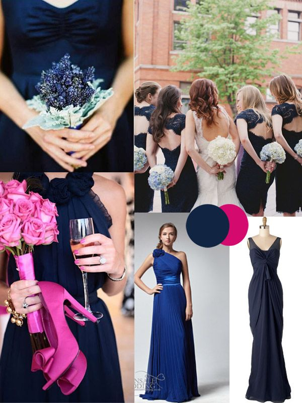 Midnight Blue Bridesmaid Dresses For Winter
