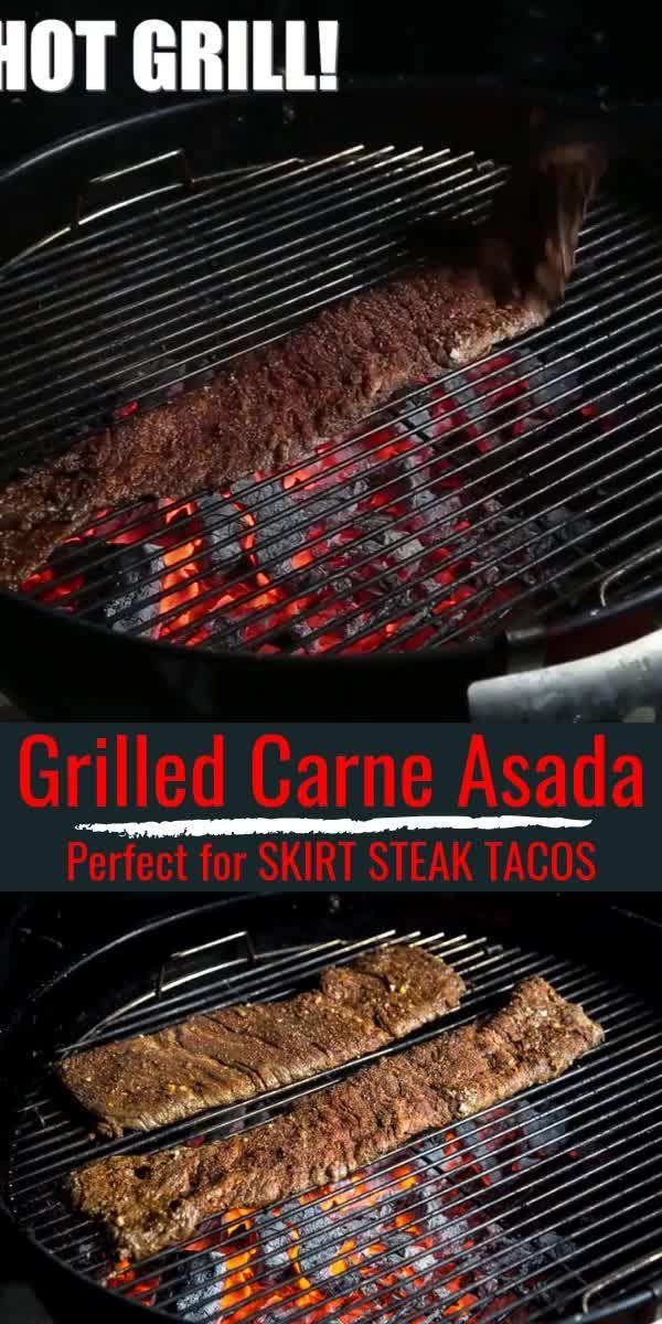 Grilled Carne Asada - Grilled Skirt Steak Tacos