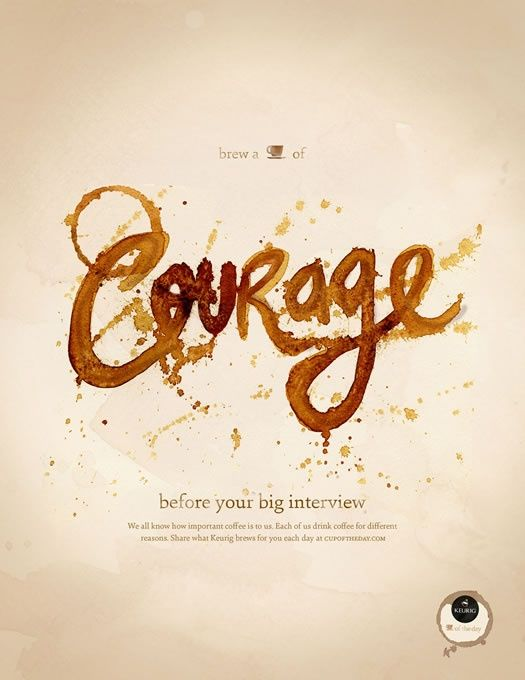Cup of courage tipografia