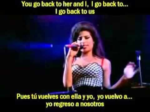 Amy Winehouse Back To Black Subtitulada Traducida Espaol Ingls