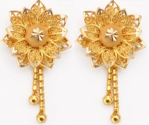 Gold jewellery fashion designs earrings