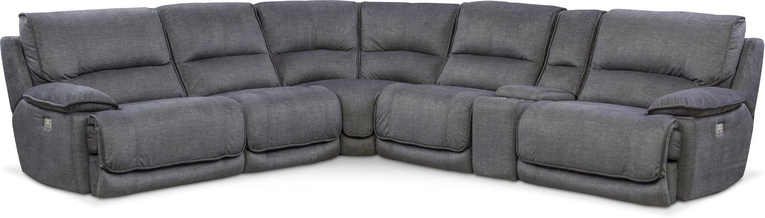 mario 6 piece power reclining sectional with 2 reclining seats rh pinterest com mx