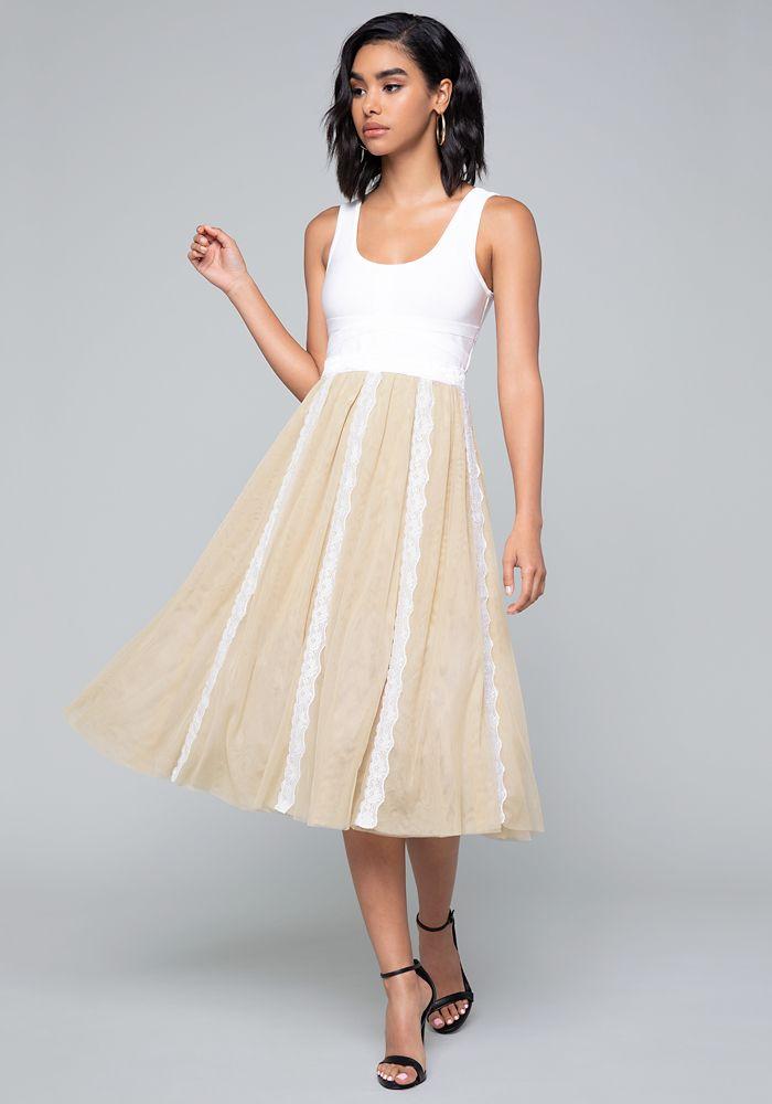 adaf18b31 Bebe Women's Misty Tulle Dress, | Products | Tulle dress, Tulle ...