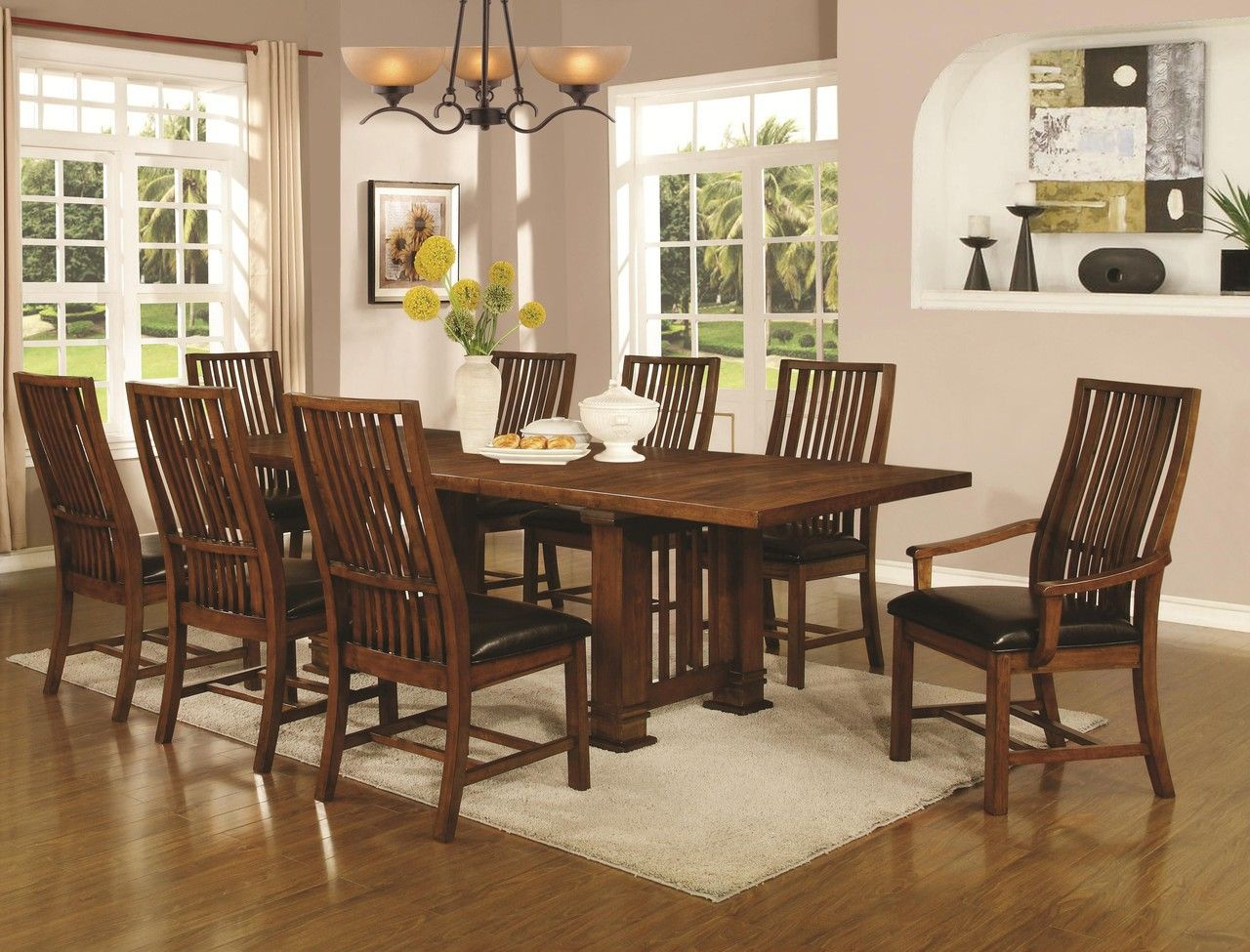 Brown Dining Table Set by Coaster