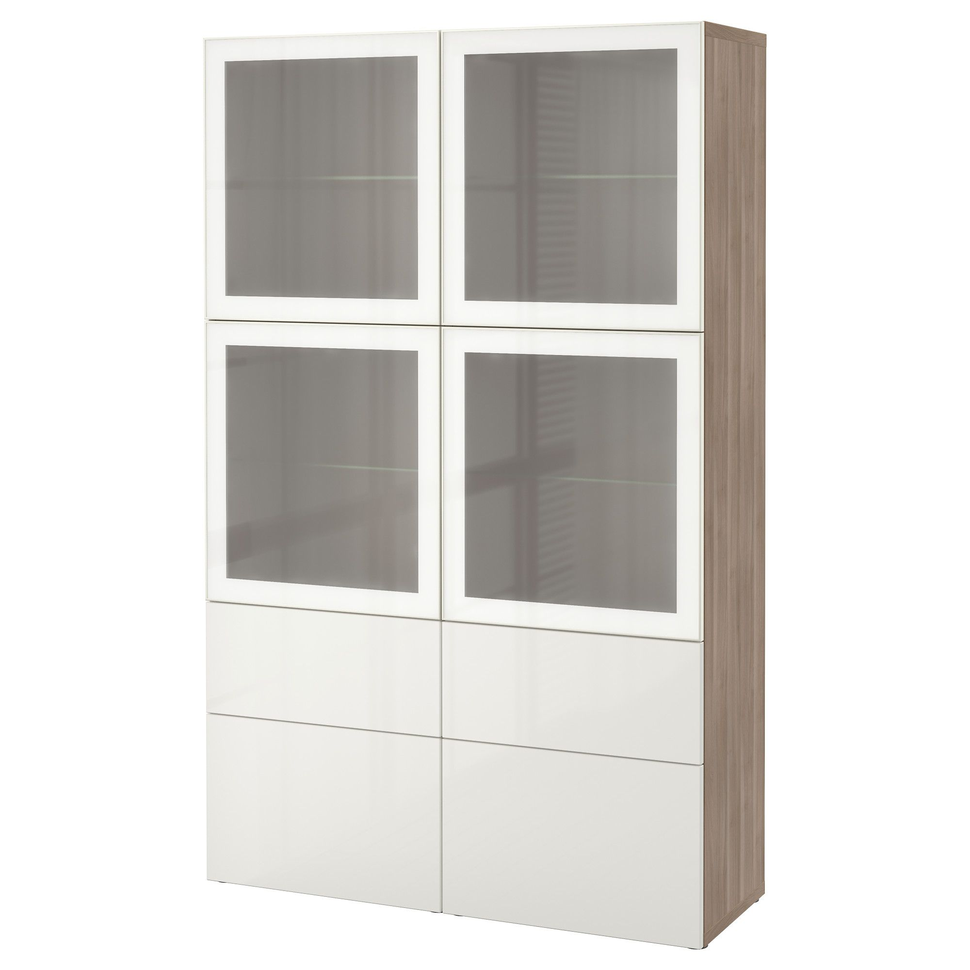 ikea best storage combination w glass doors walnut effect light rh pinterest com