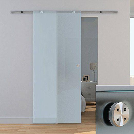schiebet r glasschiebet r glas 880x2080mm offene laufschiene ganzglasschiebet r eleganter. Black Bedroom Furniture Sets. Home Design Ideas