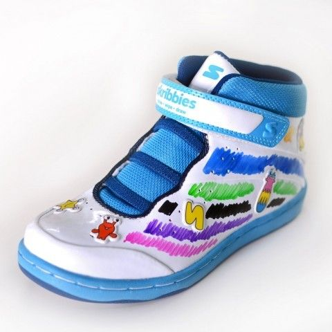 Blue/Navy Customisable Kids Trainers