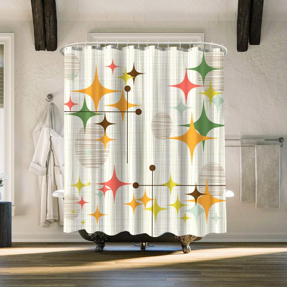 Amazon.com: Zussun Shower Curtain Set Bathroom Fabric Fall ...