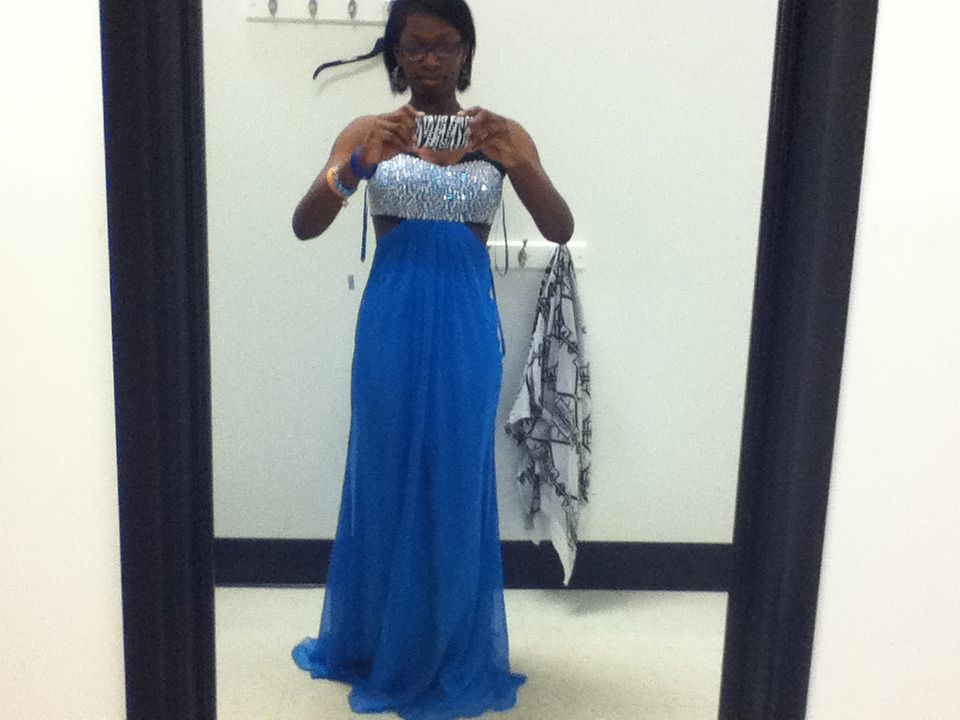 35f3deabc4 Prom dress possibility. Another Goodwill treasure!!! http   mokangoodwill.