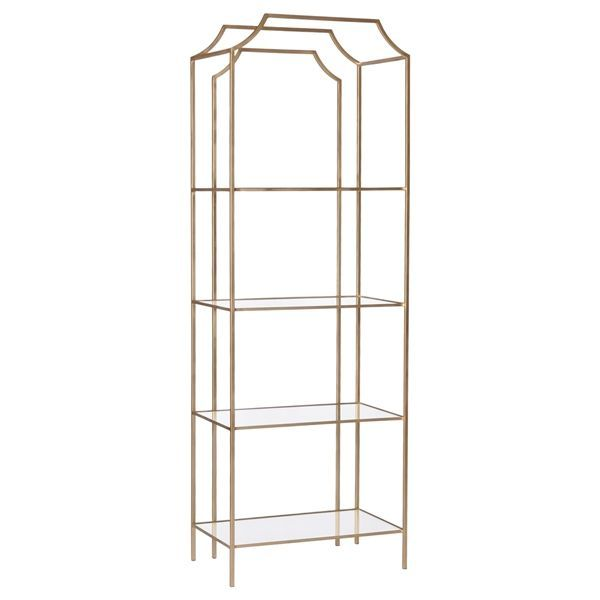 chinoiserie etagere gold with glass shelves products metal rh pinterest co uk