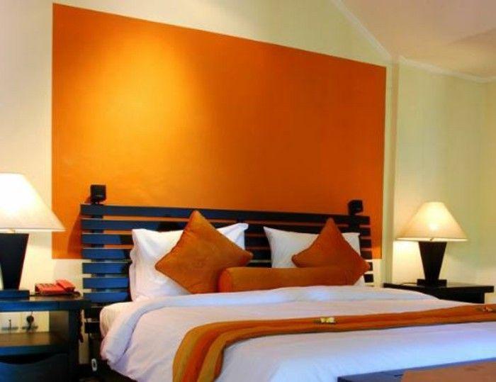Kreative Wandfarben Vorschlage Schlafzimmer Mit Wand In Orange