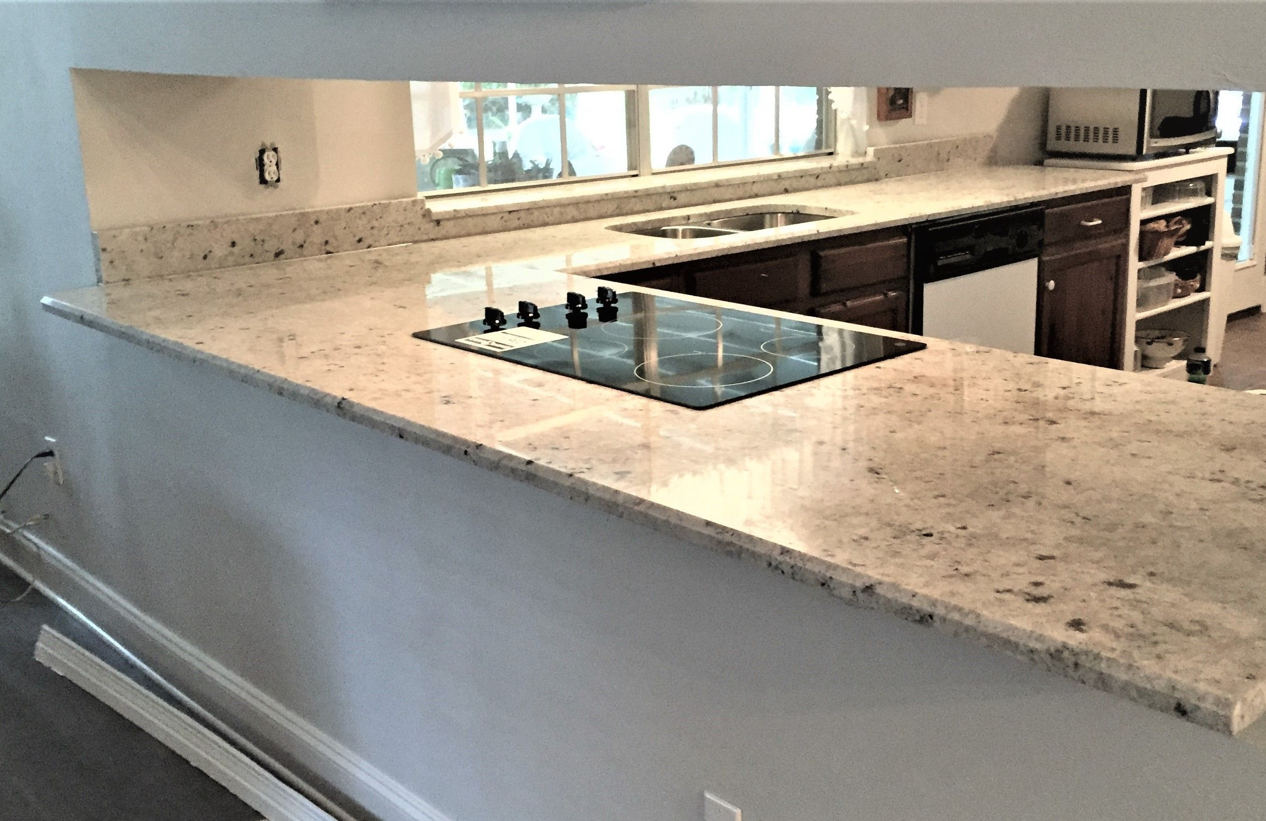 Beautiful Stone Wrap Around Countertop Love The Clean Look Of