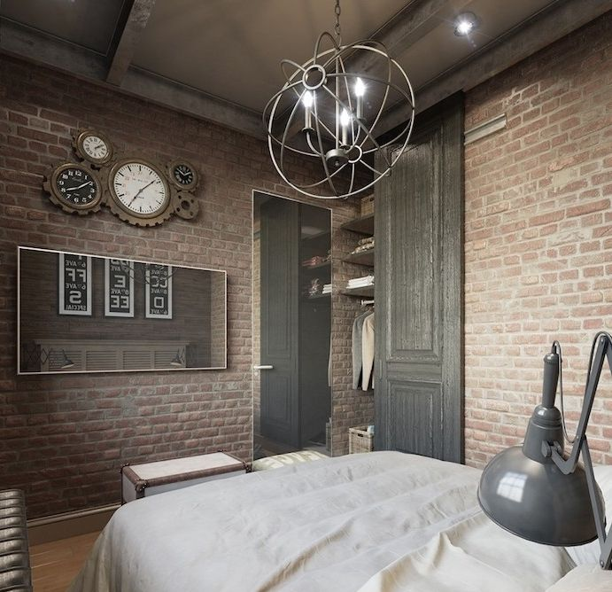 Loft Bedroomdesign: 1001 + Id Es Top Pour D Corer Une Chambre Style Industriel