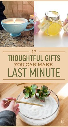 17 Simple And Cheap Gifts You Can Make Last Minute