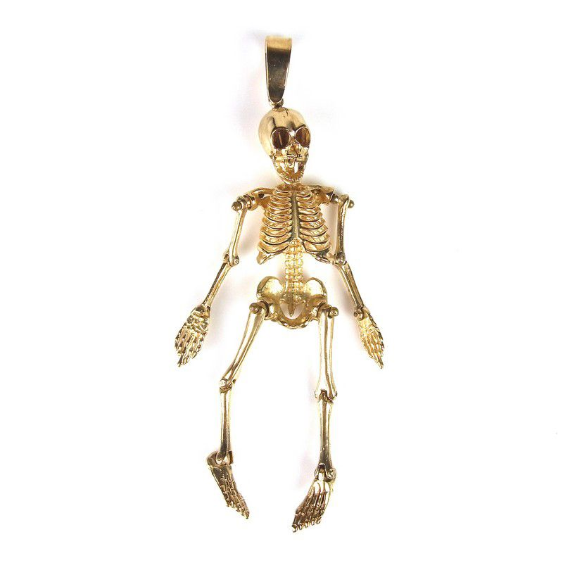 9 ct yellow gold skeleton pendant 9 ct yellow gold skeleton pendant 9 ct yellow gold skeleton pendant 9 ct yellow gold skeleton pendant with articulated aloadofball Image collections