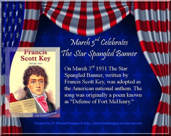Did you know on march 3rd 1931 the star spangled banner