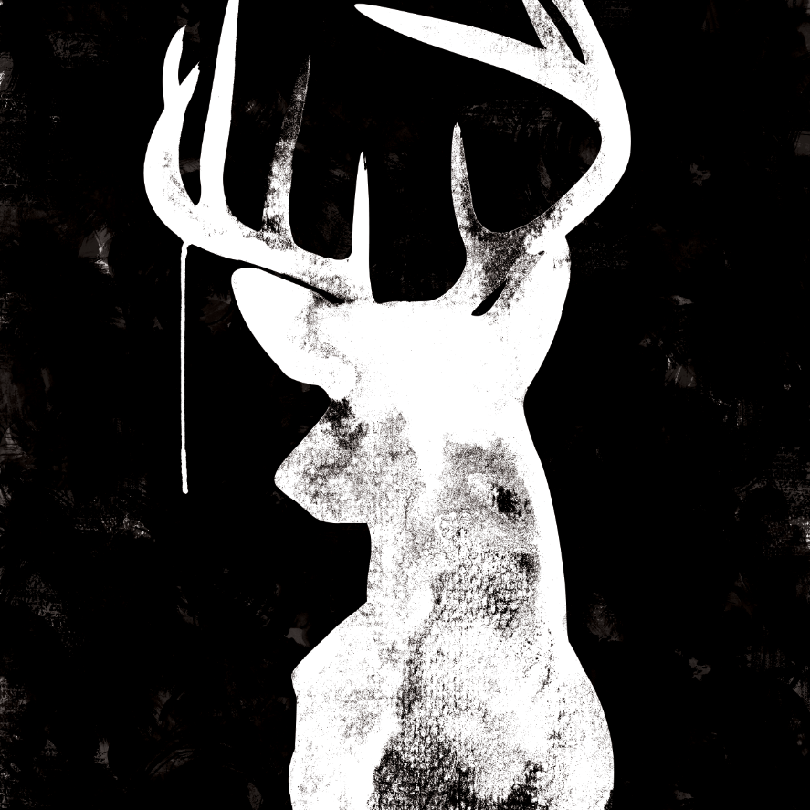Oh Deer - Black - Canvas art print | Home ideas ...