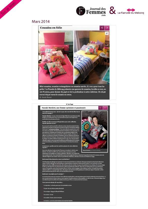 00face8ebcd1 Journal des femmes - Mars 14 - Anniversaire 20 ans! Présentation Collection  Capsule - www