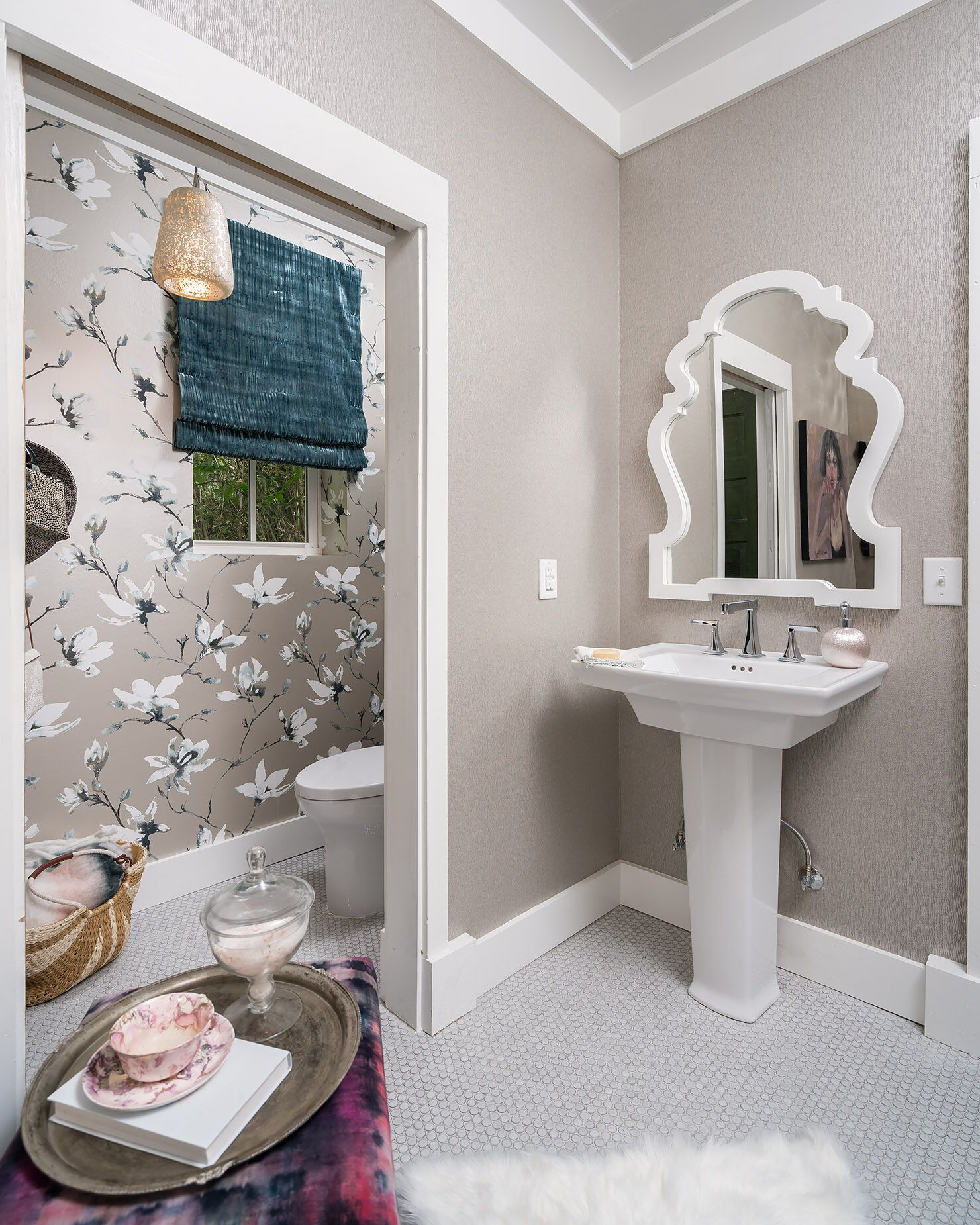 shed bathroom remodel with mirrored walls and stand alone tub in rh pinterest com