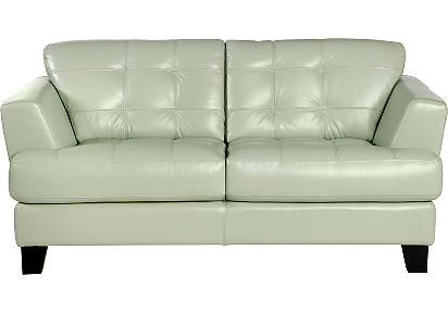 cindy crawford home avenue mint leather loveseat for rooms to go rh pinterest com