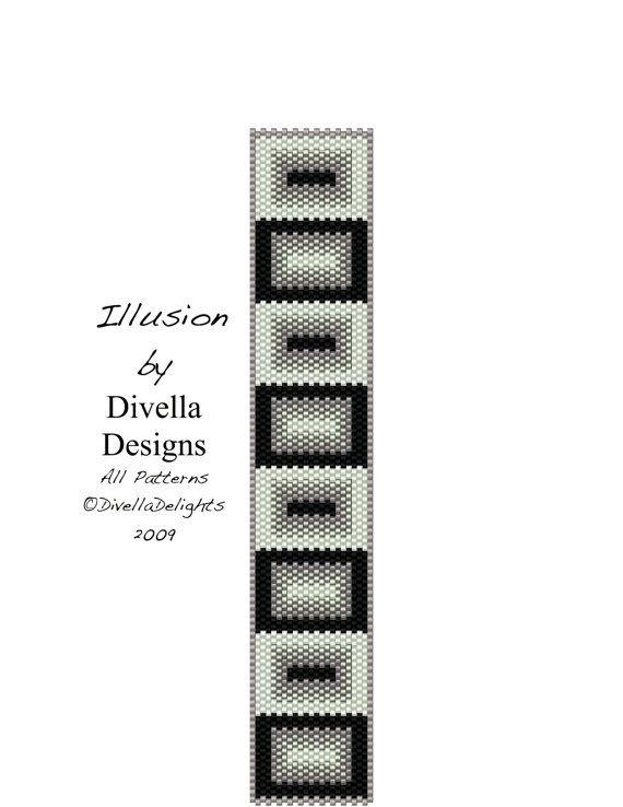 Peyote Bracelet Pattern Peyote Pattern Beading by divelladesigns                                                                                                                                                                                 More