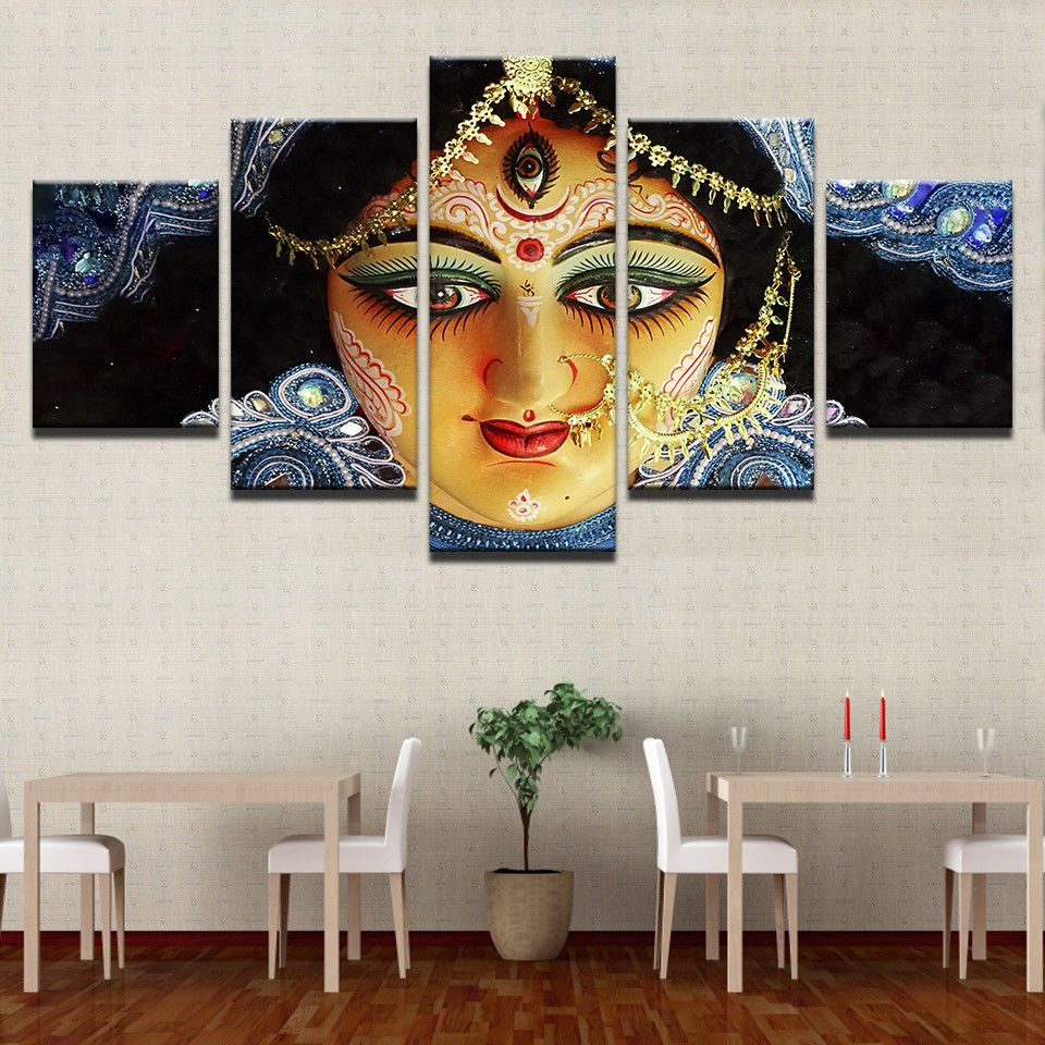 India Goddess Durga Paintings Poster Modern Picture