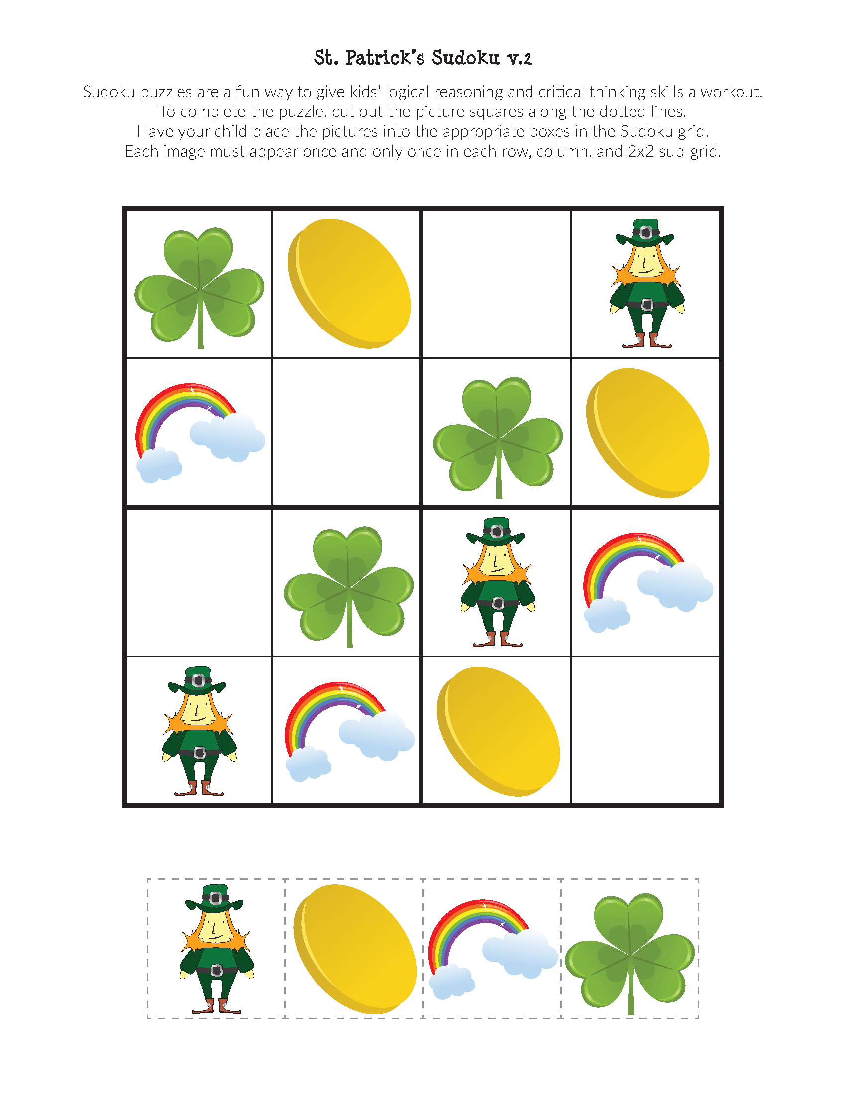 St Patrick S Day Sudoku Puzzles