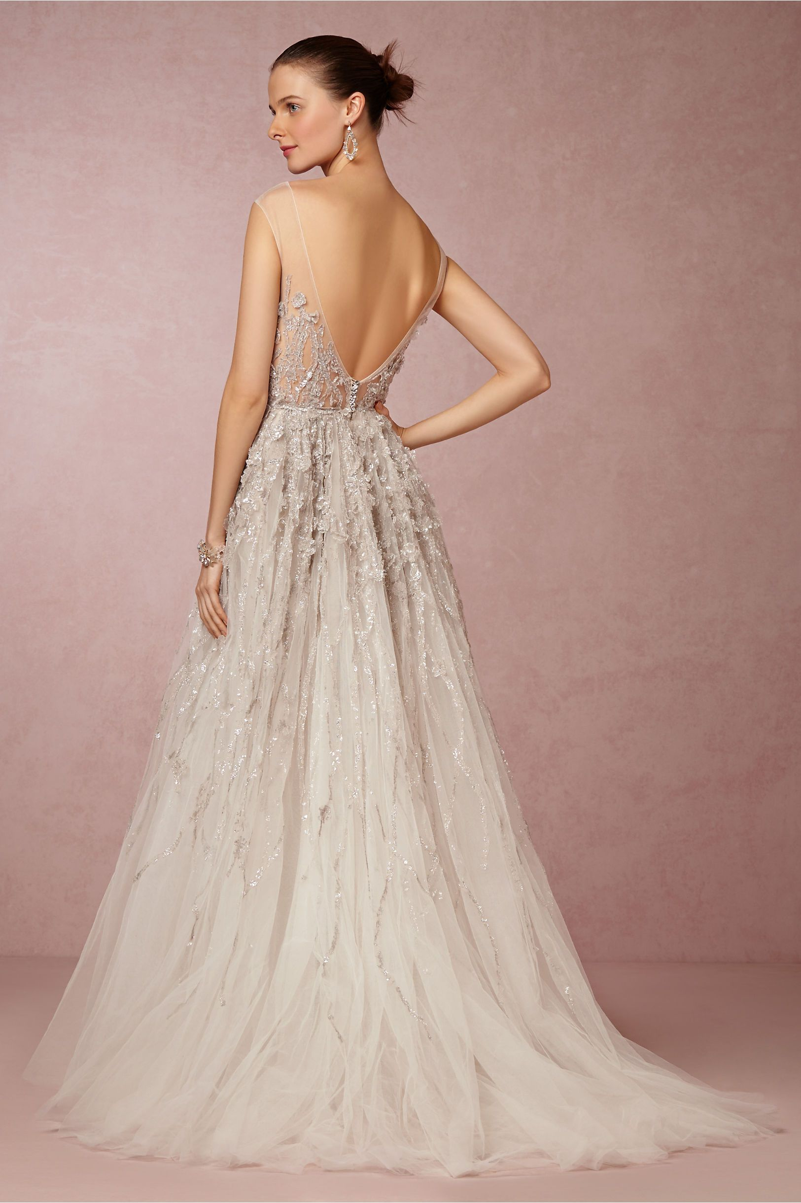 Wisteria gown in bride wedding dresses at bhldn the for Anthropologie beholden wedding dress