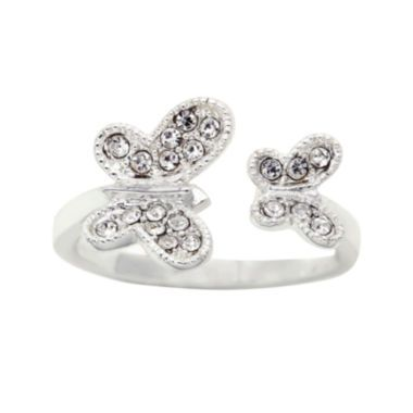 the skinny® Crystal Double Butterfly Ring  found at @JCPenney