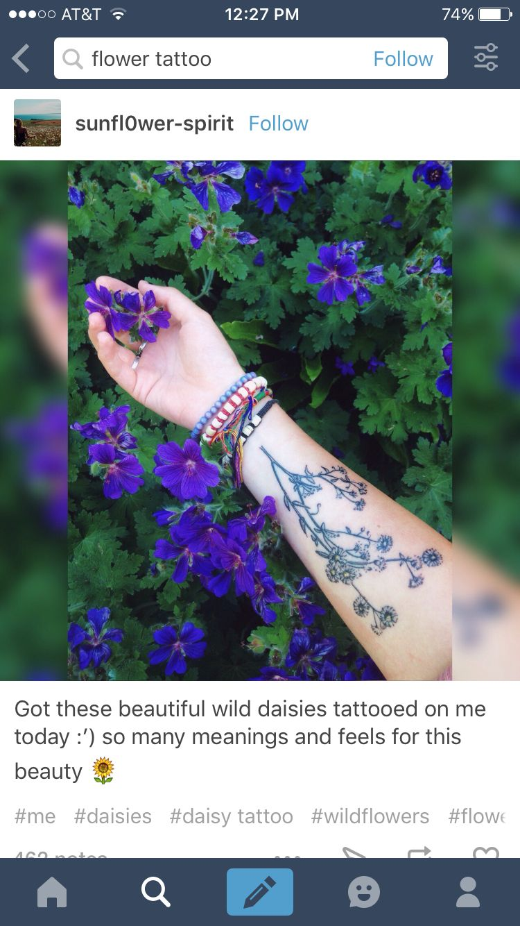 Daisies fleabane flower tattoo pinterest flower tattoos flower tattoos daisies fleabane izmirmasajfo Image collections
