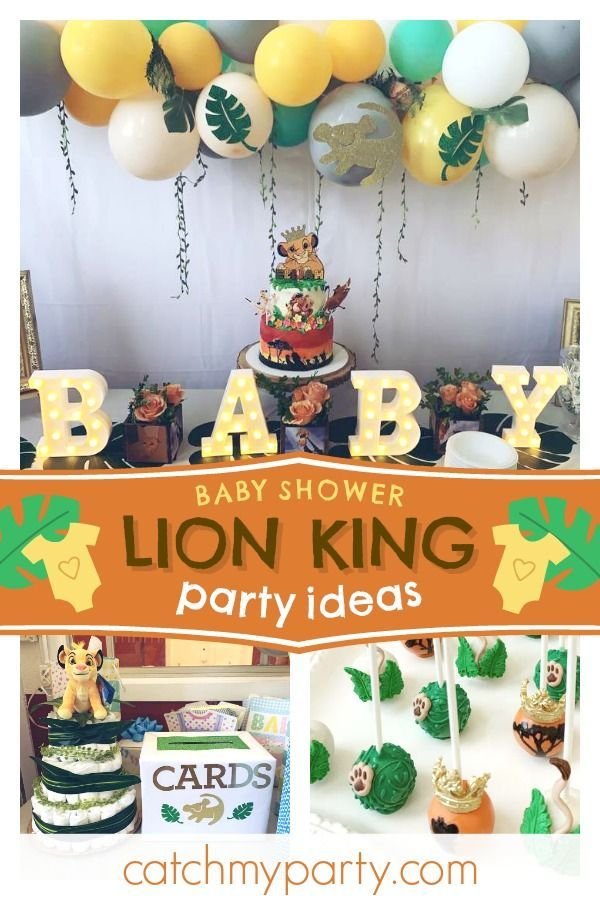Baby Lion King Baby Shower Decorations  from i.pinimg.com
