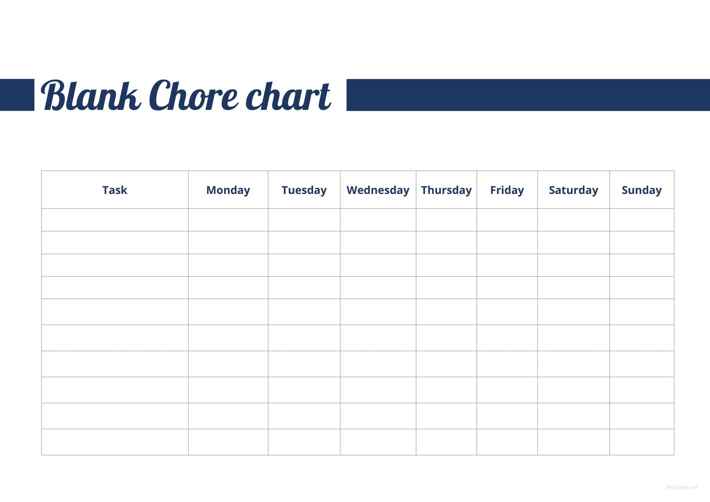 Free Blank Chore Chart With Images