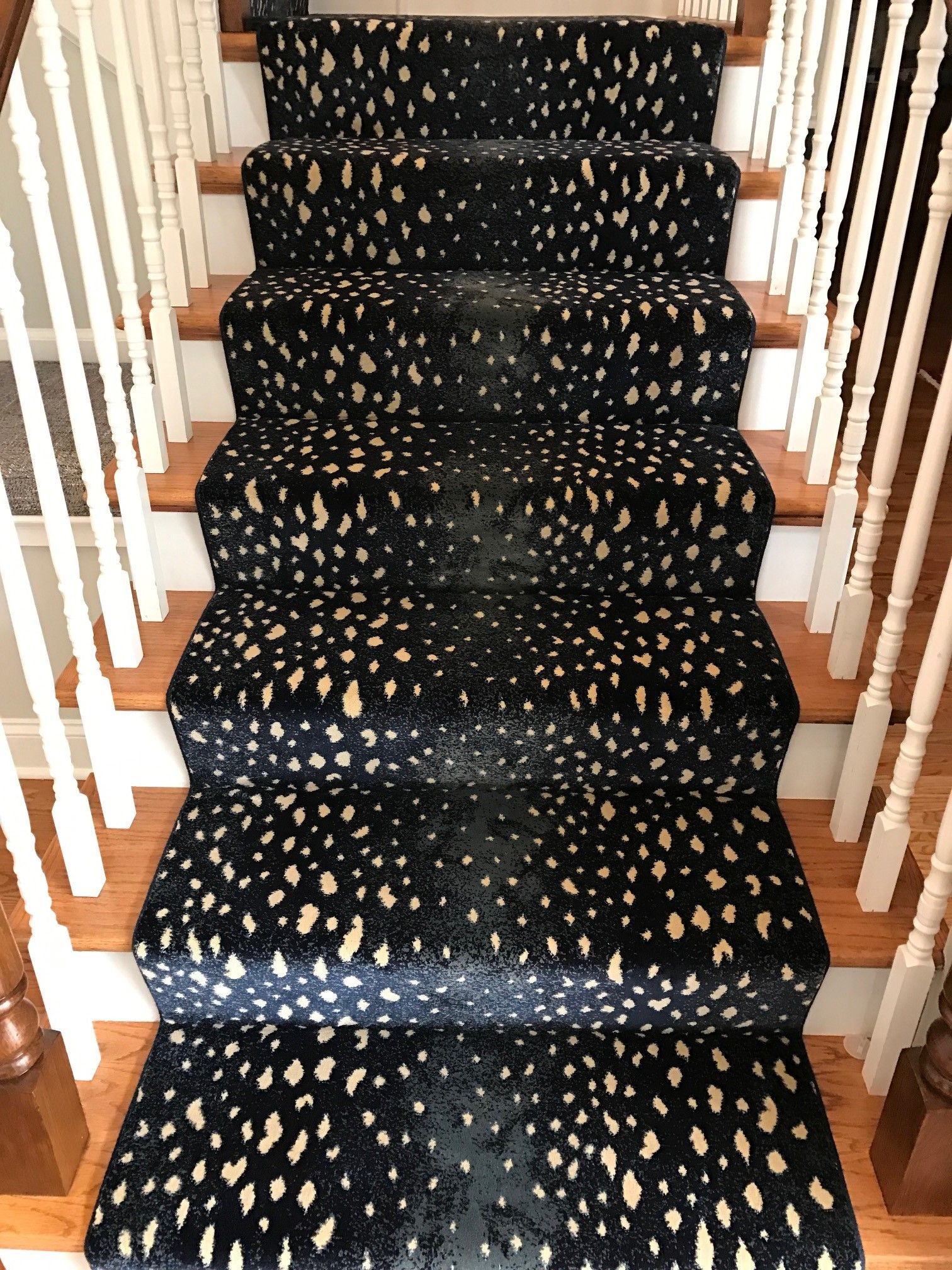 Patterned Stair Runner Staircase Animal Print Carpet Wood Newel   Stair Carpets For Sale   Wool   Flooring   Skid   Anderson Tuftex   Mallorca