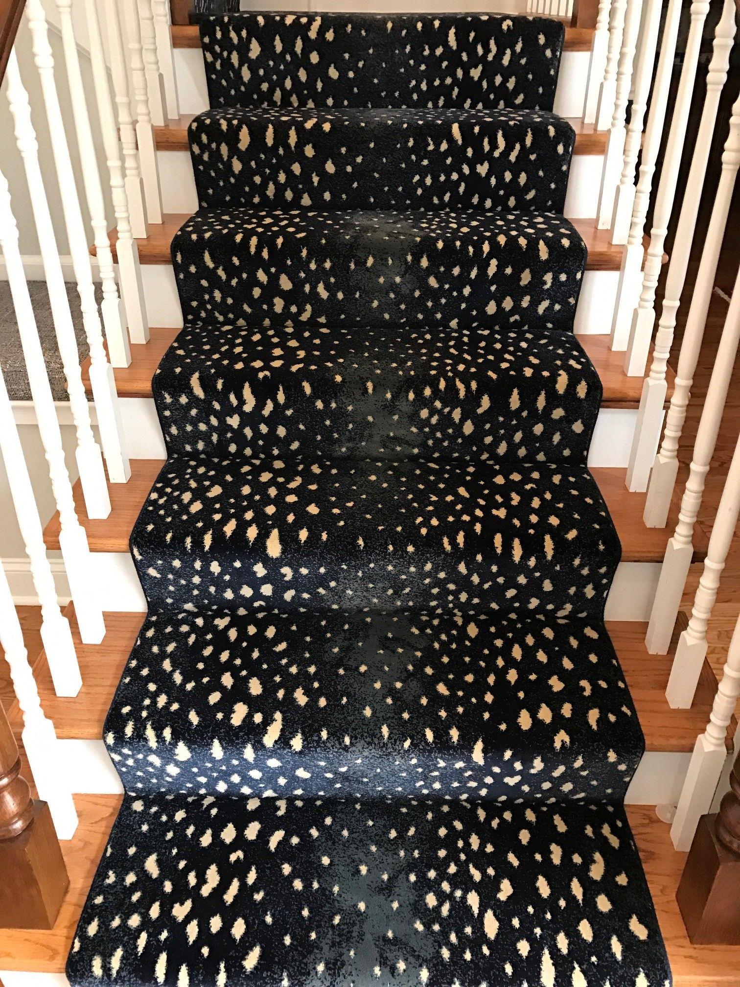 Patterned Stair Runner Staircase Animal Print Carpet Wood Newel Posts Carpet Stairs Prestige S Carpet Stairs