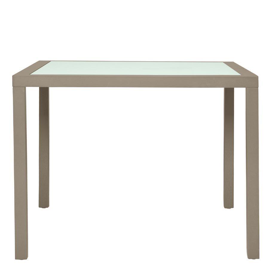 koko ii glass top dining table square 93 janus et ciejanus et cie rh pinterest com