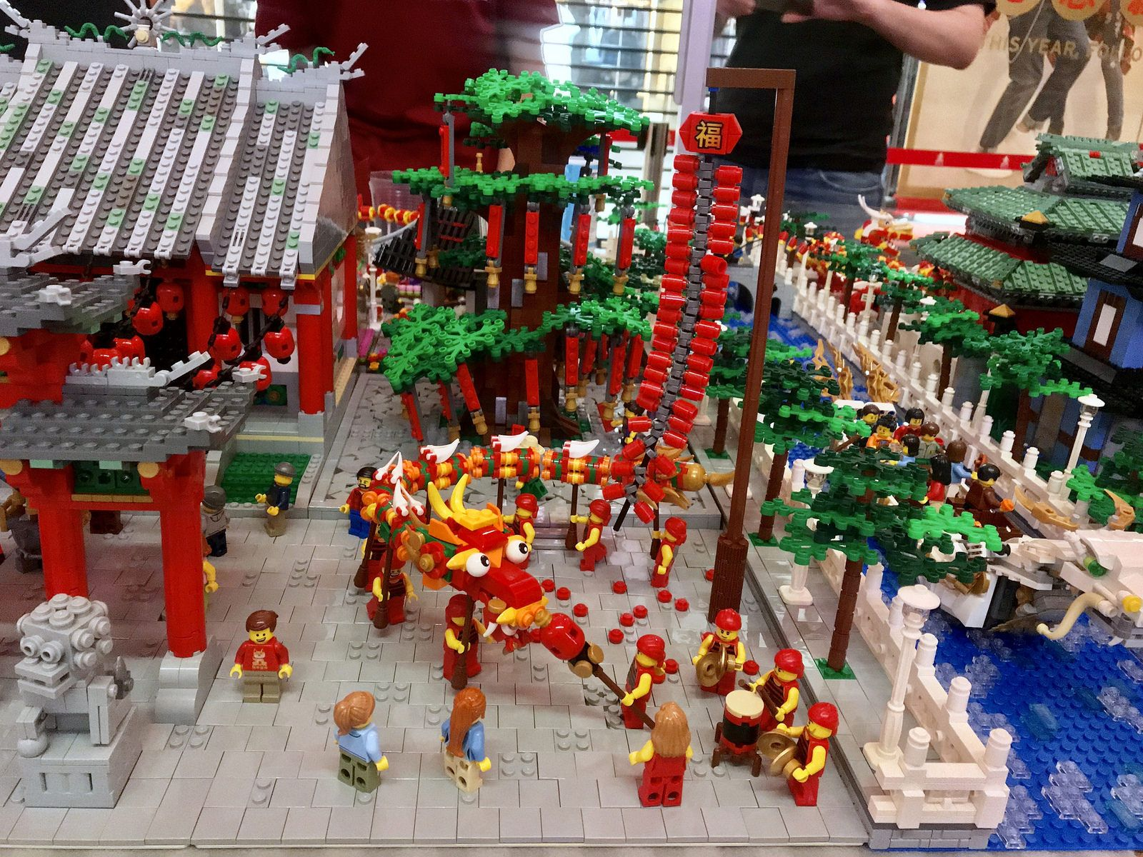 Oriental Town With Chinese New Year Celebration New Year